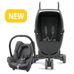 Quinny Zapp Xpress - All Black and Maxi-Cosi CabrioFix at RM330