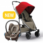 Quinny Zapp Flex Plus - Red on Sand & Maxi-Cosi CabrioFix