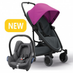 Quinny Zapp Flex Plus - Pink On Graphite & Maxi-Cosi CabrioFix