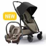 Quinny Zapp Flex Plus - Black On Sand & Maxi-Cosi CabrioFix