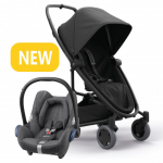 Quinny Zapp Flex Plus - Black On Black & Maxi-Cosi CabrioFix