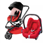 QUINNY Moodd Reworked Red + Maxi-Cosi CabrioFix