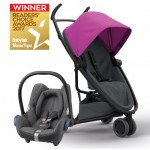 QUINNY Zapp Flex Pink on Graphite and Maxi-Cossi CabrioFix