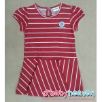 POCOYO Dress (Red with White Stripes)