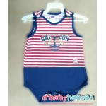 OKBB Sleeveless Romper (Blue + Red)