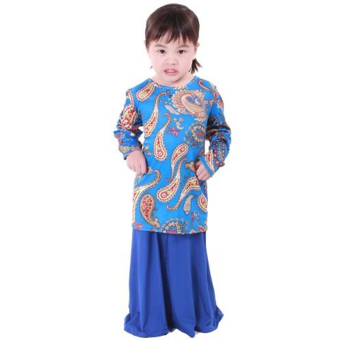 Regan Lycra Kid Baju Kurung (Blue)
