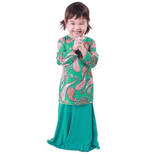 Regan Lycra Kid Baju Kurung (Green)