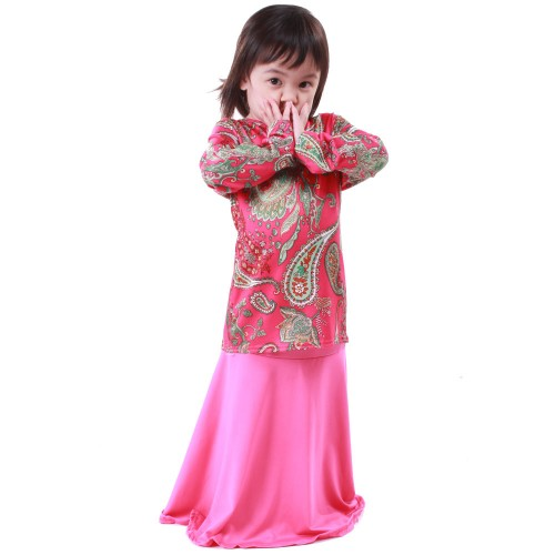 Regan Lycra Kid Baju Kurung (Pink)