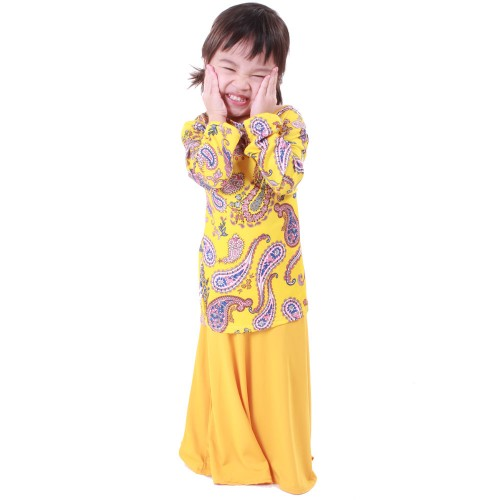 Regan Lycra Kid Baju Kurung (Yellow)
