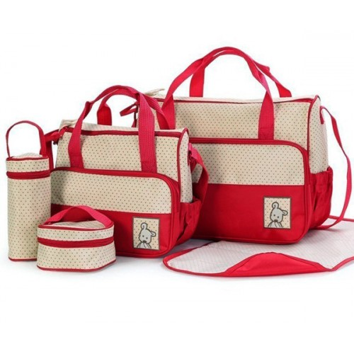 5 in 1 Mummy Bag - Red