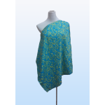Mommy Nursing Cover (Blue Flower)