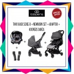 KOOPERS TAVO BASIC EDGE R + KOOPERS DANZA ( FREE ADAPTOR) + NEWBORN KIT  - SILVER GREY