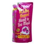 PUREEN Yogurt Head to Toe Wash - Raspberry (Refill Pack 600ml)