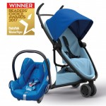 QUINNY Zapp Flex Blue on Graphite and Maxi-Cossi CabrioFix
