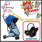 QUINNY Zapp Flex Blue on Sky and Maxi-Cossi CabrioFix