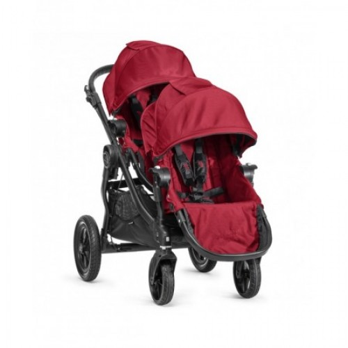 Baby Jogger City Select 2nd Seat Tandem Stroller Red
